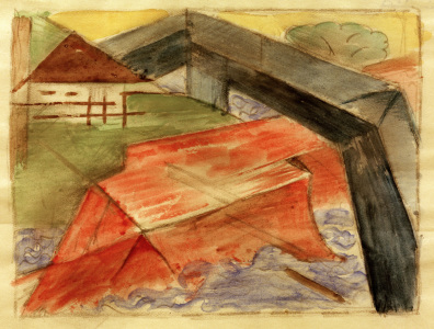 Picture no: 30005800 Marc / House and bridge / 1913/14 Created by: Marc, Franz