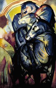 Picture no: 30005848 Franz Marc / The tower of blue horses Created by: Marc, Franz