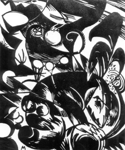 Picture no: 30005850 F.Marc / Creation I / Woodcut / 1914 Created by: Marc, Franz