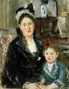 Picture no: 30005856 B.Morisot, Mme. Boursier and daughter Created by: Morisot, Berthe