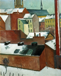 Picture no: 30005874 A.Macke, Bonner Marienkirche im Schnee Created by: Macke, August