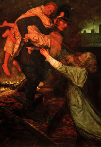 Picture no: 30005936 J.E.Millais, The Rescue Created by: Millais, Sir John Everett