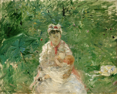Picture no: 30005954 B.Morisot, Wet nurse and Julie Manet Created by: Morisot, Berthe