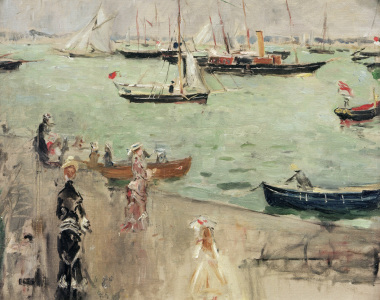 Picture no: 30005974 B.Morisot, Hrbour scene, Isle of Wight Created by: Morisot, Berthe
