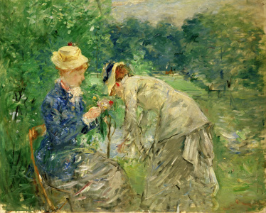 Picture no: 30005976 B.Morisot, In the Bois de Boulogne Created by: Morisot, Berthe