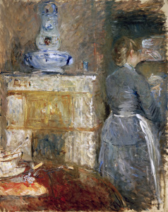 Picture no: 30005978 B.Morisot / In the Dining Room /painting Created by: Morisot, Berthe