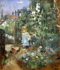 Picture no: 30005986 B. Morisot, Child among climbing roses Created by: Morisot, Berthe