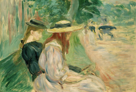 Picture no: 30005988 B.Morisot, On a bench in Bois d.Boulogne Created by: Morisot, Berthe