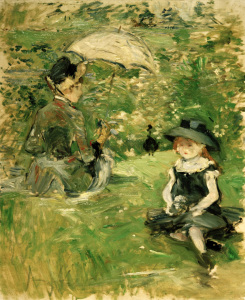 Picture no: 30006004 B.Morisot, Young woman and child, 1883 Created by: Morisot, Berthe