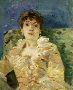 Picture no: 30006008 B.Morisot, Young woman on a divan, 1885 Created by: Morisot, Berthe