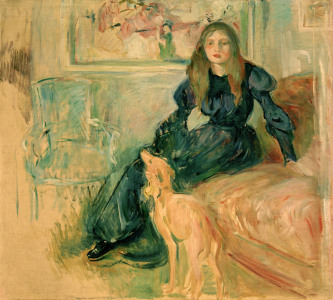 Picture no: 30006012 B.Morisot, Young girl and greyhound Created by: Morisot, Berthe