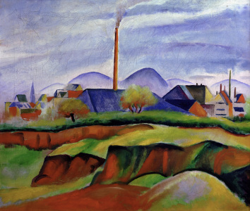 Picture no: 30006022 August Macke, Landschaft mit Fabrik Created by: Macke, August