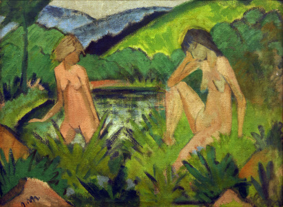 Picture no: 30006068 O.Mueller, Two Girls by the Water Created by: Mueller, Otto