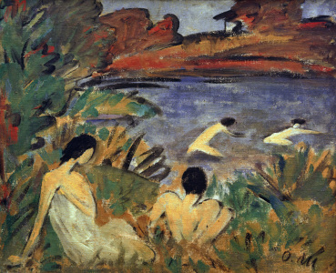 Picture no: 30006084 O.Mueller, Pond with Bathers / 1921-22 Created by: Mueller, Otto