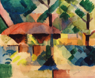 Picture no: 30006108 A.Macke / Garden Entrance / 1914 Created by: Macke, August