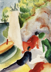 Picture no: 30006148 A.Macke, Picknick am Strand Created by: Macke, August