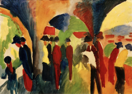 Picture no: 30006152 A.Macke, Spaziergänger Created by: Macke, August