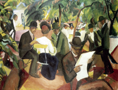 Picture no: 30006162 August Macke, Gartenrestaurant Created by: Macke, August