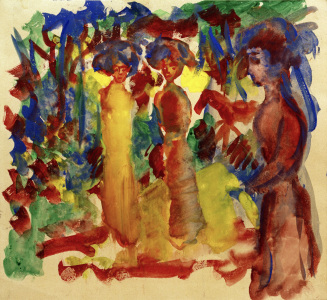 Picture no: 30006166 A.Macke, Frauen beim Spaziergang, 1913 Created by: Macke, August