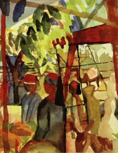 Picture no: 30006194 A.Macke / Market Life / 1914 Created by: Macke, August