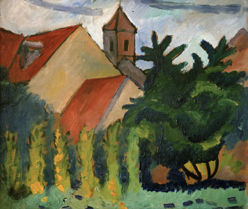 Picture no: 30006198 August Macke, Kirche in Kandern Created by: Macke, August