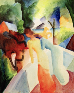 Picture no: 30006208 A.Macke / Greetings fr.th.Balcony / 1913 Created by: Macke, August