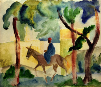 Picture no: 30006216 A.Macke, Eselsreiter Created by: Macke, August