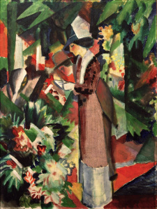 Picture no: 30006220 A.Macke, Spaziergang in Blumen Created by: Macke, August