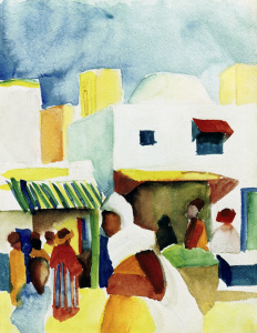 Picture no: 30006224 A.Macke / Market in Tunis I Created by: Macke, August