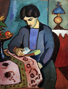Picture no: 30006226 August Macke, Wife of the artist Created by: Macke, August