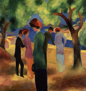 Picture no: 30006230 Macke / Woman with green jacket / 1913 Created by: Macke, August