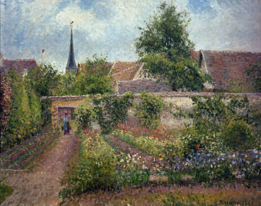 Picture no: 30006266 C.Pissarro, Vegetable garden in Eragny Created by: Pissarro, Camille