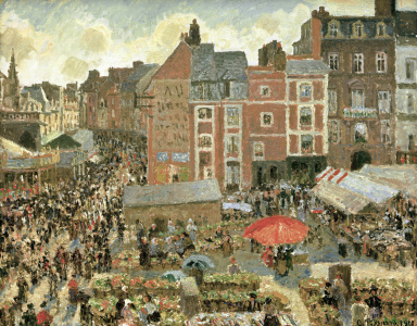 Picture no: 30006302 Pissarro / Dieppe Fair / 1901 Created by: Pissarro, Camille