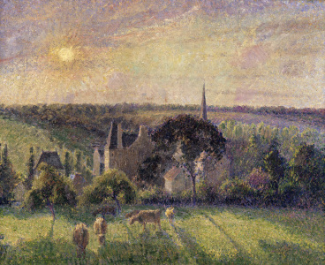 Picture no: 30006338 Pissarro / Paysage a Eragny, eglise ... Created by: Pissarro, Camille