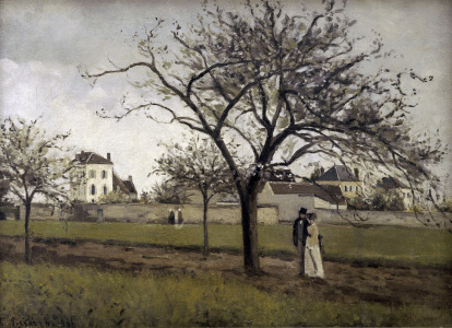 Picture no: 30006356 Pissarro/The house of Père Gallien/1866 Created by: Pissarro, Camille