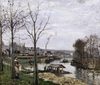 Picture no: 30006370 Pissarro / Port-Marly / 1872           . Created by: Pissarro, Camille