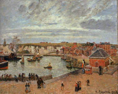 Picture no: 30006372 Pissarro / The port of Dieppe / 1902 Created by: Pissarro, Camille