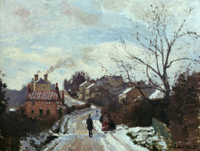 Picture no: 30006376 Pissarro / Fox Hill, Upper Norwood /1870 Created by: Pissarro, Camille