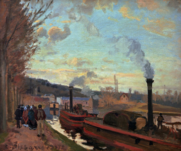 Picture no: 30006382 C.Pissarro, The Seine near Port-Marly Created by: Pissarro, Camille