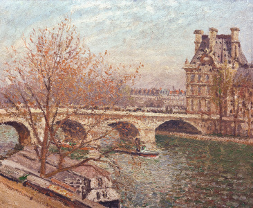 Picture no: 30006386 C.Pissarro, Pont Royal a.Pavillon de Fl. Created by: Pissarro, Camille
