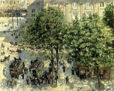 Picture no: 30006388 Pissarro, / Place du Theatre Francais Created by: Pissarro, Camille