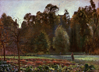 Picture no: 30006406 Pissarro / Cabbage Field, Pontoise /1873 Created by: Pissarro, Camille