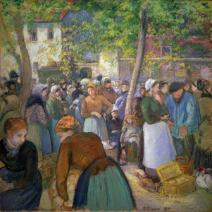Picture no: 30006408 Pissarro / The poultry market / 1885 Created by: Pissarro, Camille