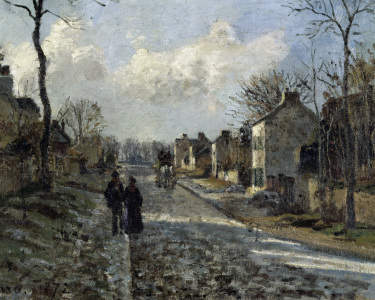 Picture no: 30006412 C.Pissarro, Road in Louvecienne / Detail Created by: Pissarro, Camille