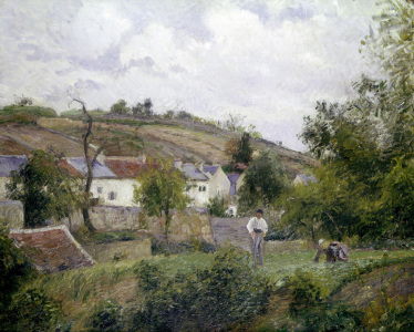 Picture no: 30006420 Pissarro / Village near Pontoise / 1873 Created by: Pissarro, Camille