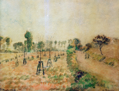 Picture no: 30006422 Pissarro / The Field Path / 1888 Created by: Pissarro, Camille