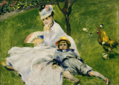 Picture no: 30006458 Renoir /Madame Monet with son Jean/ 1874 Created by: Renoir, Pierre-Auguste