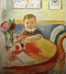 Picture no: 30006472 A.Macke, Bildnis Walter Macke mit... Created by: Macke, August