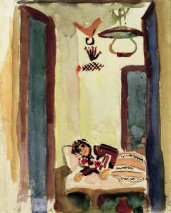 Picture no: 30006482 A.Macke, Frau auf Ruhebett Created by: Macke, August