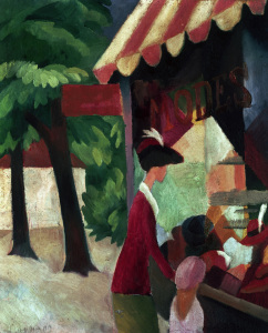Picture no: 30006494 August Macke, Vor dem Hutladen Created by: Macke, August